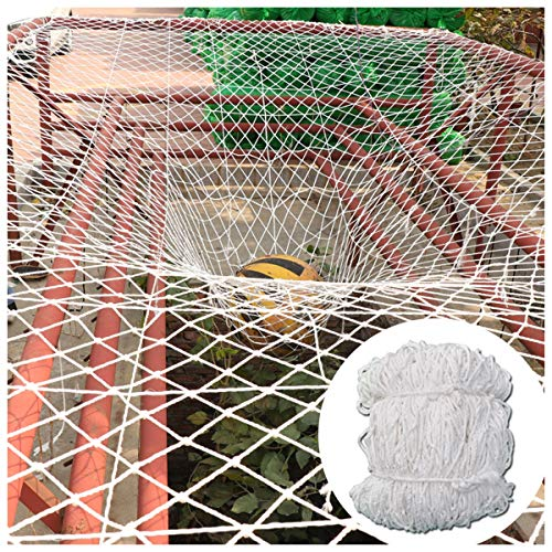 Safety Net Kids Protective Safety Protection Safety Netting For Railings And Engineering Work Heavy Duty Patio Netting For Pets Netted Canopy Tent For Camping 6mm/10cm White Multi-size (Size : 5x7m)