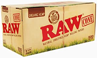 Raw Natural Unrefined Organic Hemp Rolling Papers 1 1/4 900 Per Box