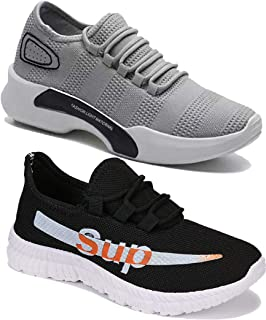 Shoefly Men Multicolour Latest Collection Sports Running Shoes-Pack of 2 (Combo-(2)-9164-9098)