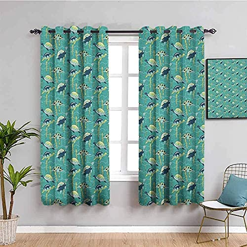 JNWVU Blackout Curtains for Bedroom - Landscape Sunset Clouds Mountains - 3D Print Pattern Eyelet ​Thermal Insulated - 110 x 71 inch - 90% Blackout Curtains for Kids Boys Girls Playroom