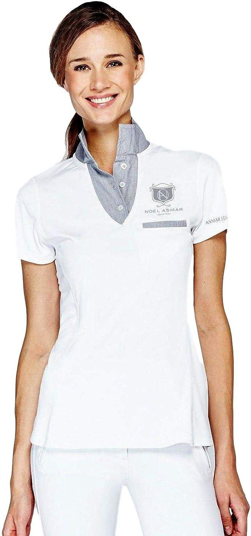 Asmar Equestrian Freestyle Polo Shirt (XX Large, White)