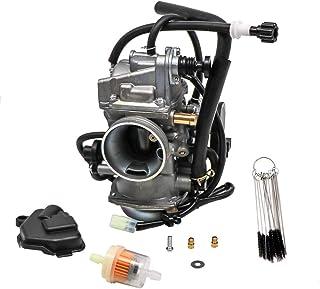 KIPA Carburetor for Honda TRX 400 Rancher TRX400FA TRX400FGA 4X4 AT 2004-2007, Replace OEM J16100-HN7-013, With Carbon Dirt Jet Cleaner Tool Kit & Fuel Filter