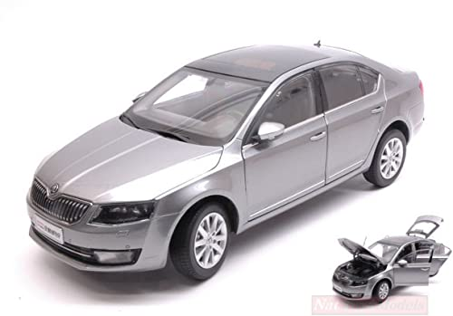 PAUDI MODEL PD2323GY SKODA OCTAVIA 2014 SilberGUN 1 18 MODELLINO DIE CAST MODEL
