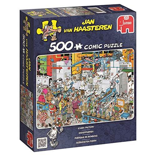 Jumbo - Puzzle Candy Factory, 500 Piezas (619025)
