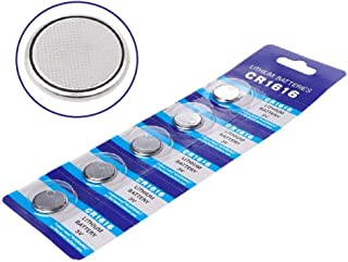 Cotchear 5pcs/Pack 3V CR1616 Coin Battery DL1616 BR1616 L28 KCR1616 LM1616 ECR1616 5021LC L11 280-209 Watch Coin Cells Battery Button Batteries