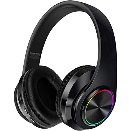 Noise Cancelling Headphones with Mic Bluetooth Wireless & Wired Headphones with Audio Cable & USB Cable for Travel Work(Black)