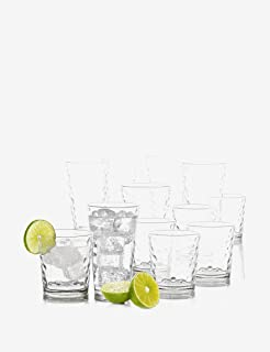 Drinkware set by Gibson 16 pcs set DOFs and Coolers set mega glass set