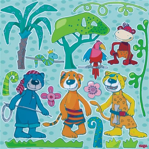 HABA 2679 Wandaufkleber Dschungel-Bande