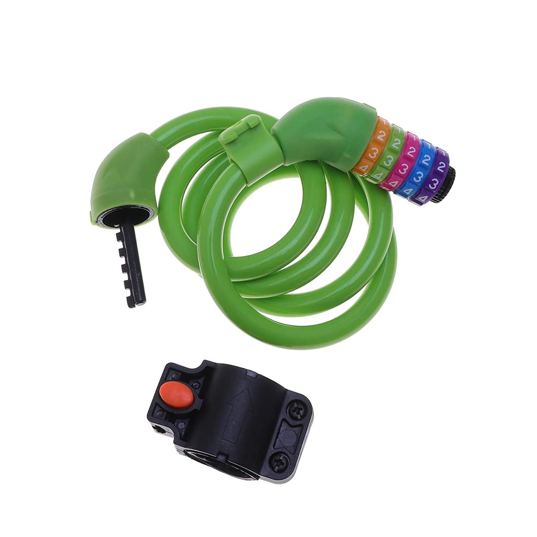 1ピースミニコードロックポータブルサイクリングロックセキュリティバイクヘルメット荷物ワイヤーロープコードロック