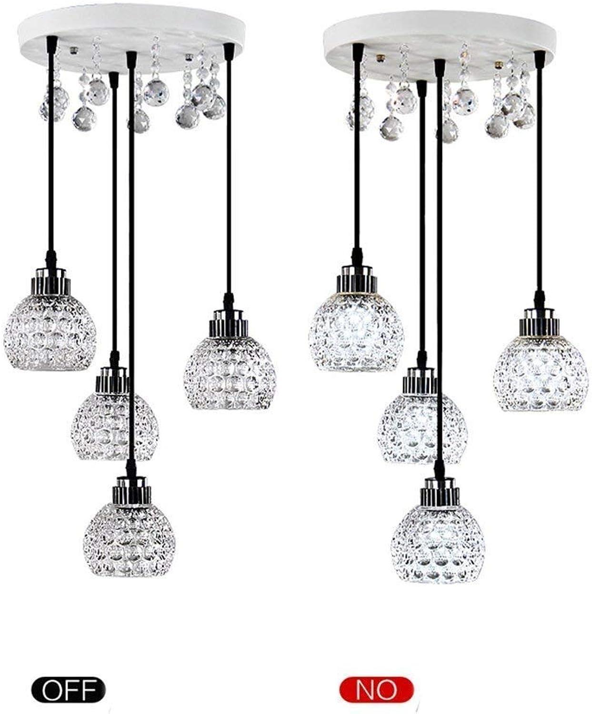 HBLJ Single Head Crystal Chandelier, das Restaurant Led Lights Hanging Long Bar Einfache Tischlampe Glanz des Esstisches für die Beleuchtung des Stückes (A) Fashion.Z (Farbe  C) (Farbe  D)