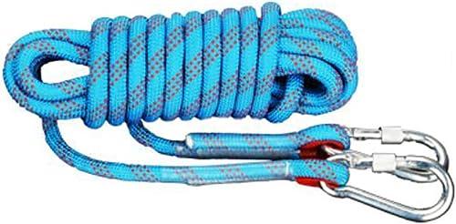 TLMYDD Corde d'escalade Corde de Sauvetage Sauvetage Sauvetage aérien Travail Vitesse Corde de Chute Corde en Nylon MultiCouleure Multi-Taille en Option Cordes (Couleur   A, Taille   10mm 30m)