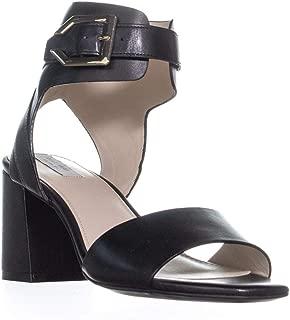 Cole Haan Avani Ankle Buckle Sandals, Black Leather, 11 US