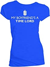 Doctor Who My Boyfriends A Time Lord Camiseta Azul para Juniors | S