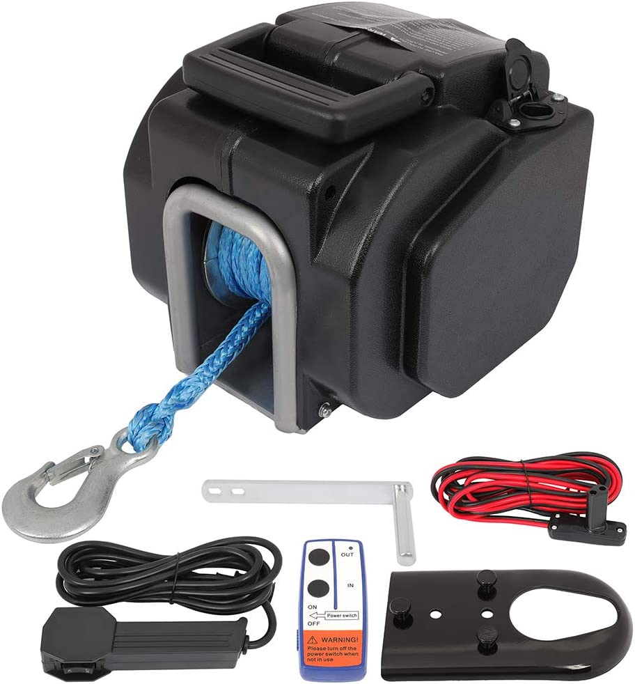 LUJUNTEC 12V 11000 lowest Great interest price lb Electric Winch Truck Winches with Towing S