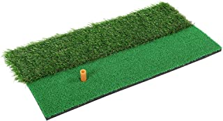 Golf Practice Mat, Multi Surface Golf Hitting Mat Easy to Assemble Indoor Outdoor Golf Swing Practice Grass Mat 30x60cm