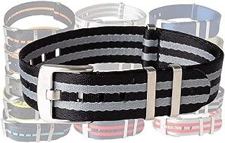BluShark AlphaPremier Ultra Premium Nylon Watch Band - Multiple Sizes and Colors