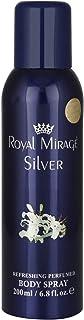 Royal Mirage Silver Body Spray for Unisex Lemon 200ml