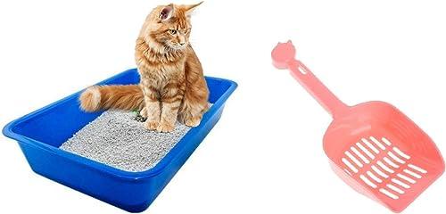 Petcrux Exclusive Cat Litter Tray & Litter Scooper Multicolor (Litter Tray + Litter Scooper)