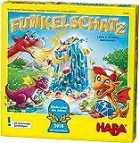 Haba 303402 - Funkelschatz Brettspiel, lustiges Mitbringspiel für 2-4 Spieler ab 5 Jahren, mit 90...