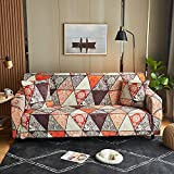 WXQY Sillón de Sala de Estar Funda de sofá Impresa de Estilo nórdico, Funda de sofá Todo Incluido geométrica Creativa Antideslizante A10 1 Plaza