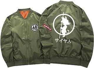 Gumstyle Dragon Ball Anime Bomber Flight Jacket Unisex Zip Up Casual Baseball Short Coat