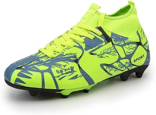 LYLZR Chaussures de Football Professionnelles Unisexes Ongles cassés Chaussures de Soccer pour étudiants Une Semelle antidérapante au Sol résistante à l'usure