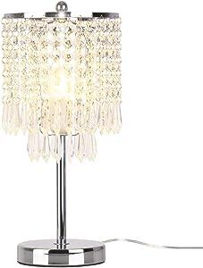 delle fabricado Rain Drop Plata Cristal Lámpara de mesa para dormitorio, Salón, niña habitaciones o como regalo de boda