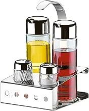 Galheteiro Inox 5 Pecas Parma Vinagre/Azeite/Sal/Palitos