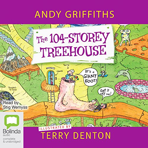 The 104-Storey Treehouse audiobook cover art