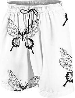 Camera Doodle Pattern Men's Swim Trunks Summer Teen Beach Pants Quick Dry Board Shorts Bathing Suit