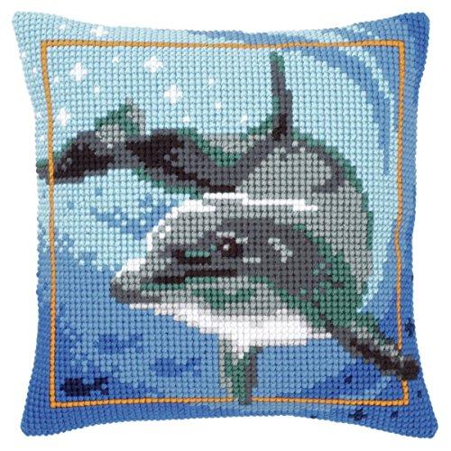 Vervaco PN-0021528 kruissteekkussen dolfijn