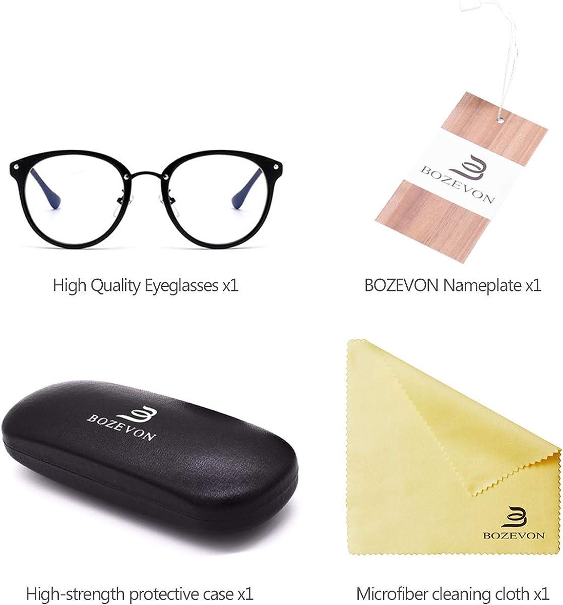 Gafas Anti-luz Azul Blue Light Blocking Glasses Gafas para Ordenador Gaming para Hombre Mujer Gafas Luz Azul Gafas Antifatiga BOZEVON Gafas anti-azules