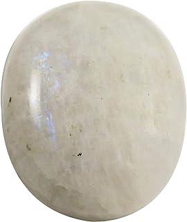 Gems&JewelsHub Piedra lunar arcoíris ovalada cabujón natural suelta piedra preciosa 33,35 quilates OG98