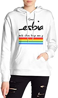 VJJ AIDEAR Gone Lesbian Women's Sweater Printed Hoodied Long Sleeve Coat
