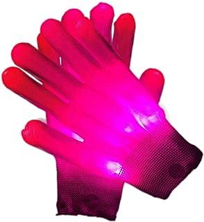 per Adulti Halloween Natale Compleanno Regali di Festa Rave Guanti Luminosi Colorati a LED Guanti LED Lampeggianti 2 Pezzi Moda Guanti Scheletro a LED Knowing Guanti a LED Luminosi