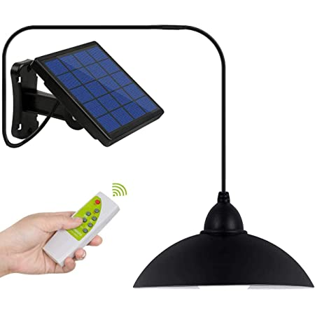 DiDi DENG Solar Pendant Lights Outdoor Hanging Shed Lamp Remote Brightness Adjustable Barn LED for Kitchen Garden Yard Patio Balcony Home Auto On/Off
