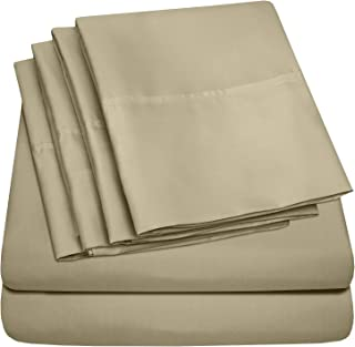 Sweet Home Collection Bed 6 Piece 1500 Thread Count Deep Pocket Sheet Set – 2 EXTRA..