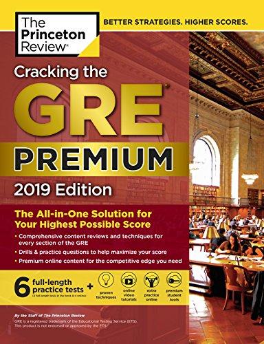 Princeton Review GRE Premium Prep, 2022: 7 Practice Tests + Review & Techniques + Online Tools (2022