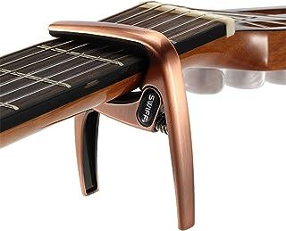 Guitar Capo, Zinc Metal Capo for Acoustic and Electric Guitars ,Ukulele,Mandolin,Banjo,Classical Guitar Accessories-Bronze