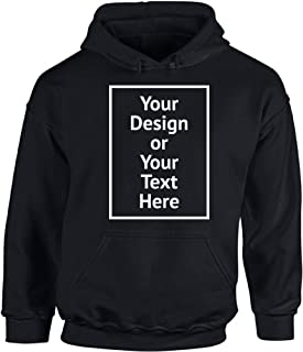 Personalized Hoodie DIY Add Your Photo Image Your Own Custom Text Hooded Sweatshirt