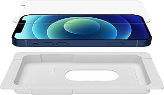 Belkin iPhone 13 mini 用 保護ガラスフィルム 強化ガラス 日本AGC旭硝子製 抗菌 0.33mm 簡単取付キット付き OVA068zz 透明