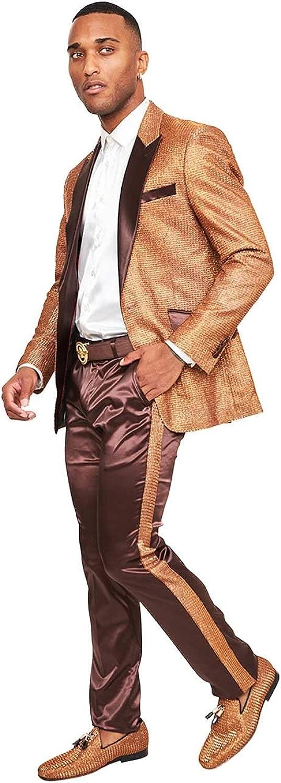 Barabas Statement Chocolate and Bronze Jacket 3XL/48 Pants 42