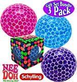 Nee-Doh Schylling Bubble Glob Groovy Glob! Squishy, Squeezy, Stretchy Stress Balls Blue, Pink & Purple Complete Gift Set Party Bundle - 3 Pack