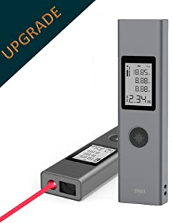 IIDA laser distance meter, rechargeable compact laser distance measure up to131 feet/40m, Backlight LCD, Pythagorean calculate, Distance, Area and Volume - ±2mm Accuracy