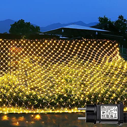 decorazioni natalizie balcone Joycome 204 LED Rete di Luci Albero di Natale
