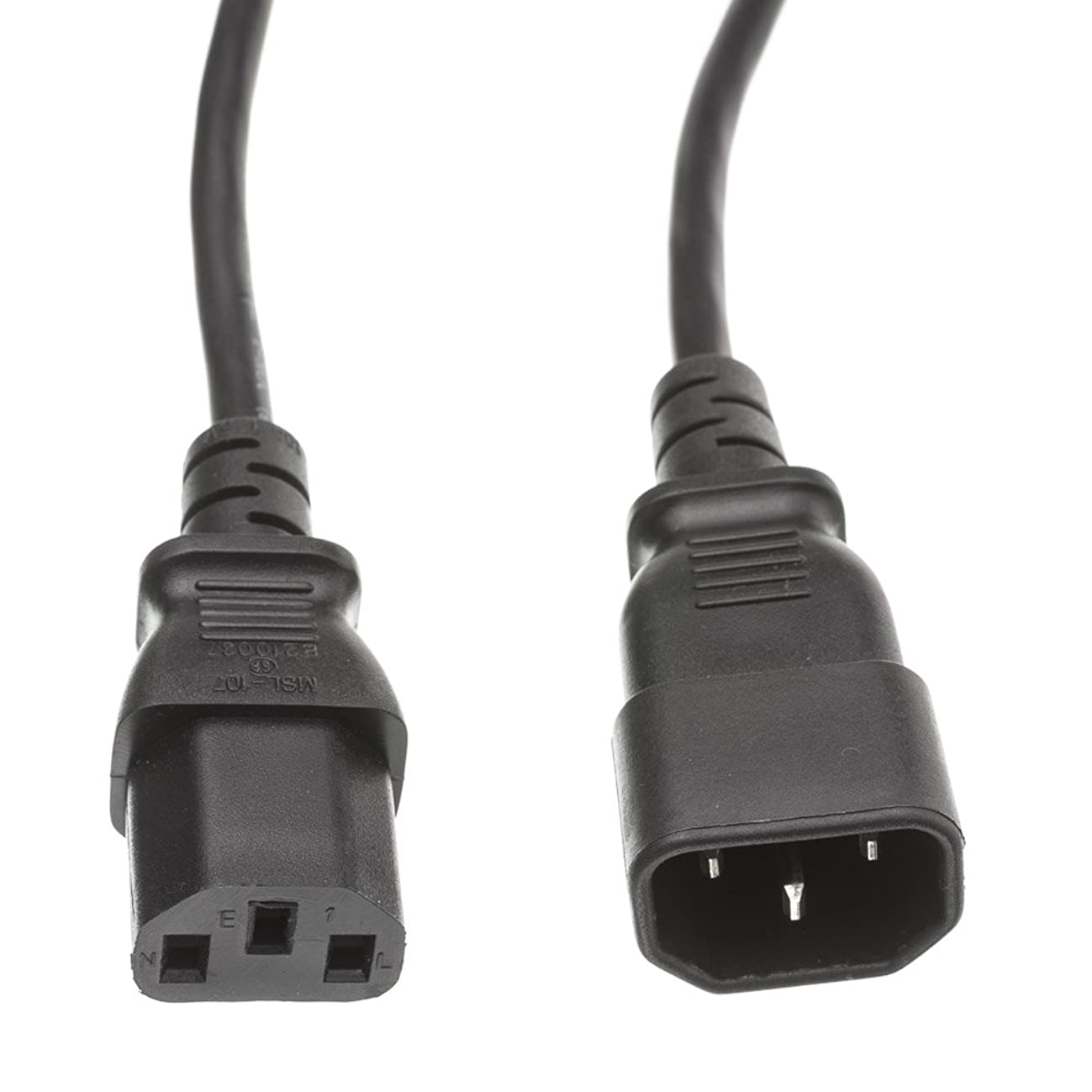 Computer/Monitor Power Extension Cord, Black, C13 to C14, 10 Amp, 25 Foot