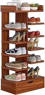 Zapateros estantes gabinete del Zapato del Deslizador de MDF Estable Organizador Estante de Madera con cajón Ahorra Espaci...