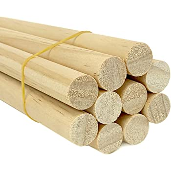 Bag of 5 3//4 Inch x 48 Inch Wooden Dowel Rods Unfinished Hardwood Dowels For Crafts /& Woodworking By Craftparts Direct