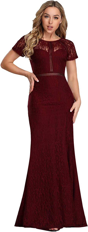 Ever-Pretty Women's Elegant Mermaid Lace See-Through Evening Dresses 7752