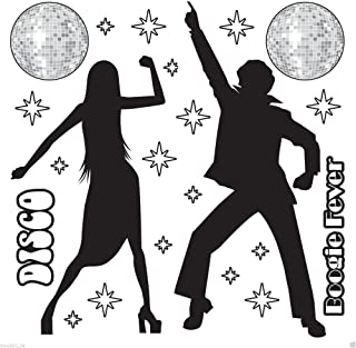 1970s Party Decoration Funky DISCO SILHOUETTE Saturday Night Fever Wall PROPS